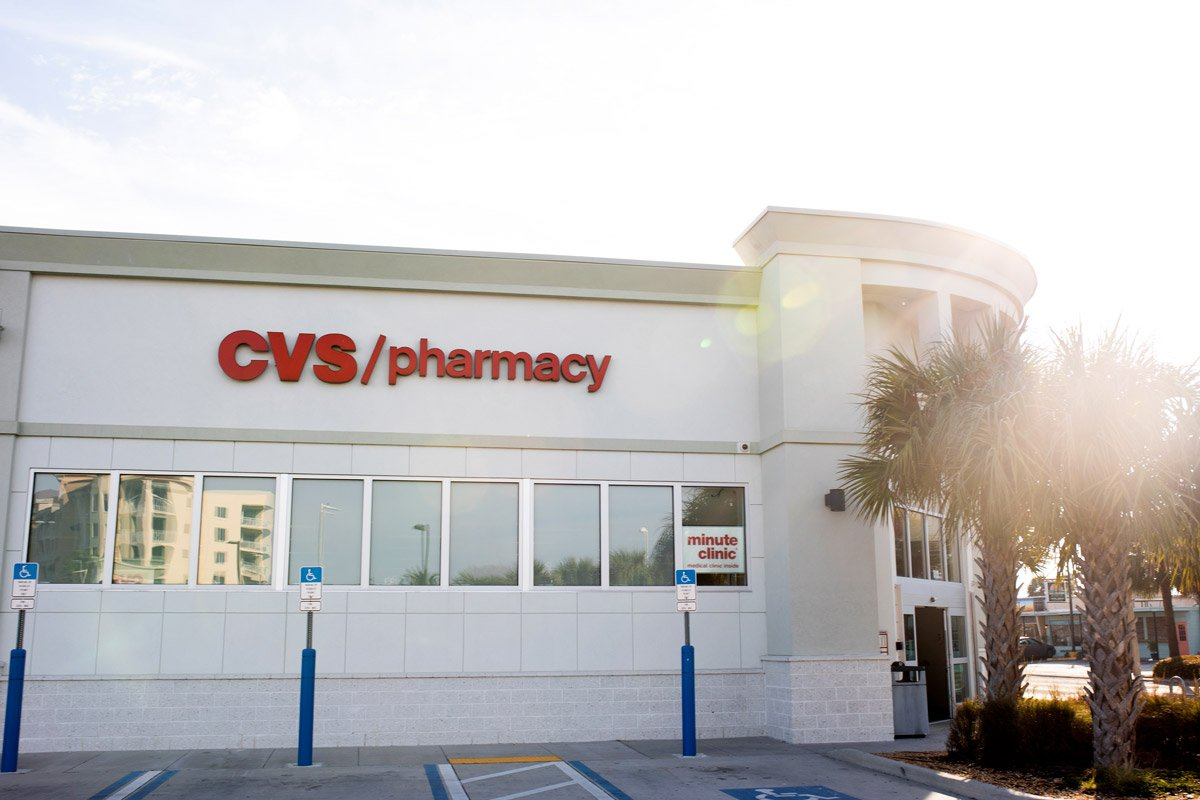 The exterior of a CVS is photographed in Florida.