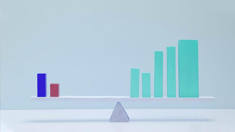 finance bar chart mobile